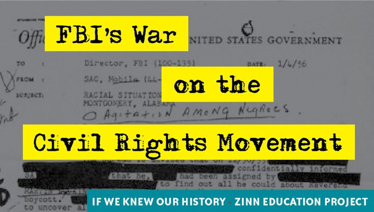 Why We Should Teach About the FBI's War on the Civil Rights Movement