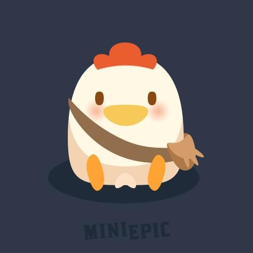 Chick Character Game Concept Art by MiniEpic www.MiniEpic.com