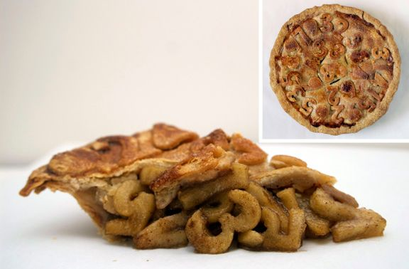 Another Pinner said: Look close at this pie----it's the pi-est pie I've seen so far!