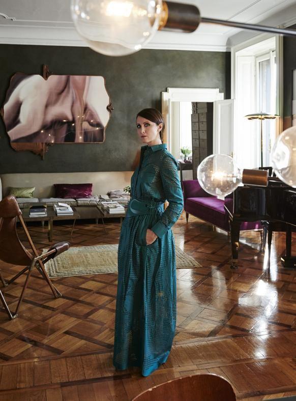Alessandra facchinetti living room ufficio loft case for Case colorate interni