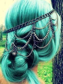 photography hair girl cute tumblr beautiful hipster Grunge hair style nice long hair colored hair dyed hair pertty pastel goth green hair col brautiful hair