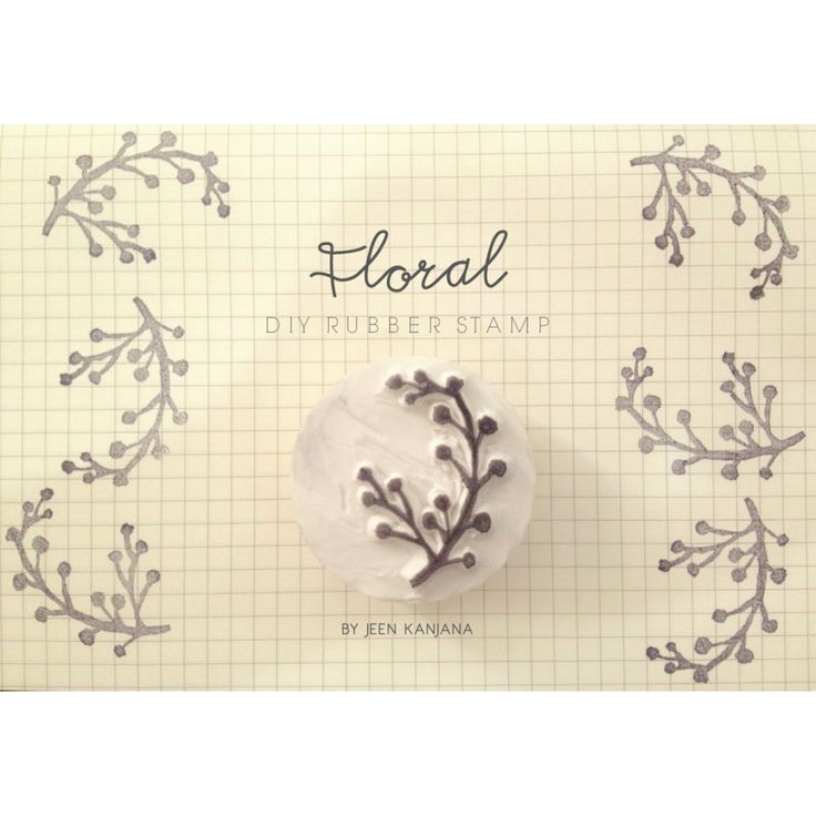 Floral Diy rubber stamp by jeen kanjan