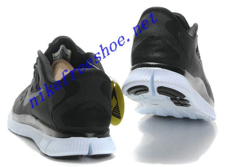 Nike Free Run 4 Mens Black Dark Grey White Metallic Silver 579959 002