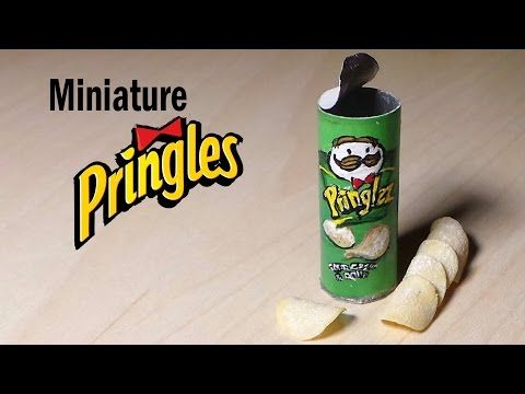 Miniature Pringles - Polymer Clay & Paper Tutorial - YouTube