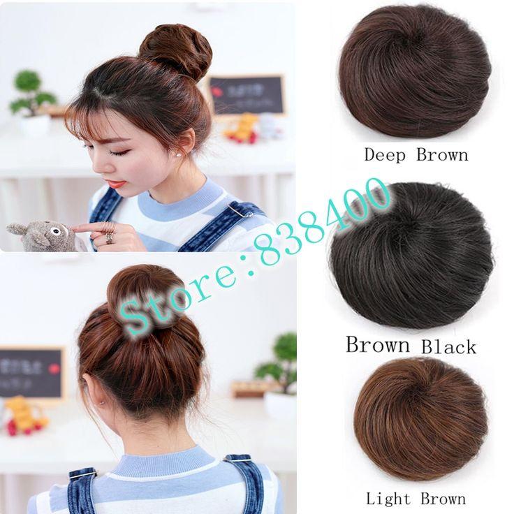 Synthetic Hair Bun Chignon Extension The Hair Meatball The Fluffy Chignon Bun Hairpiece For Women For Party Or Wedding