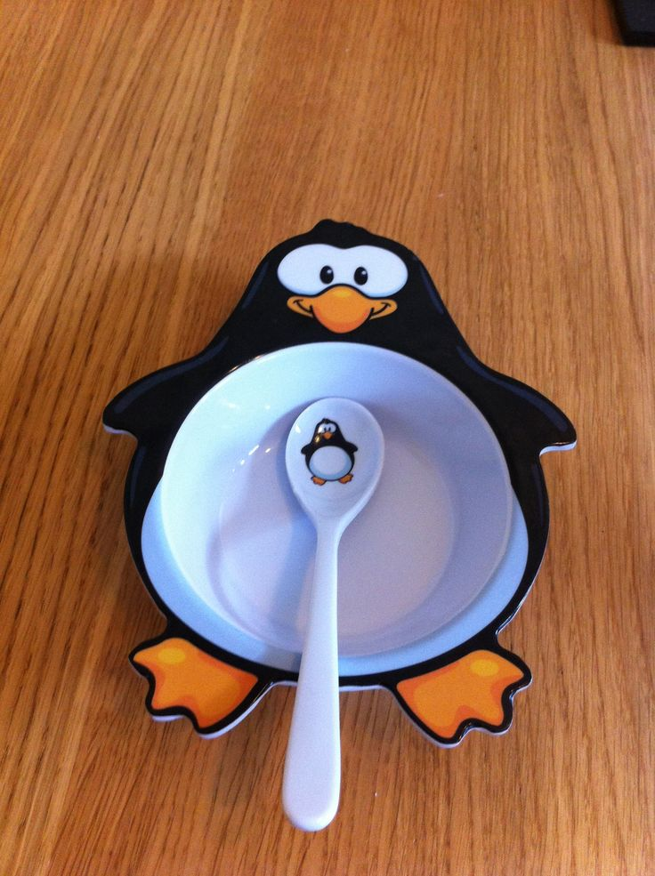 Penguin bowl and spoon ' perfect for ice cream! LOL