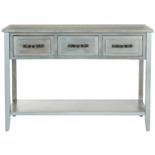 Distressed Blue Coffee Table: Safavieh Aiden Console Distressed Pale Blue/ White Table