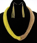 Yellow two tone necklace