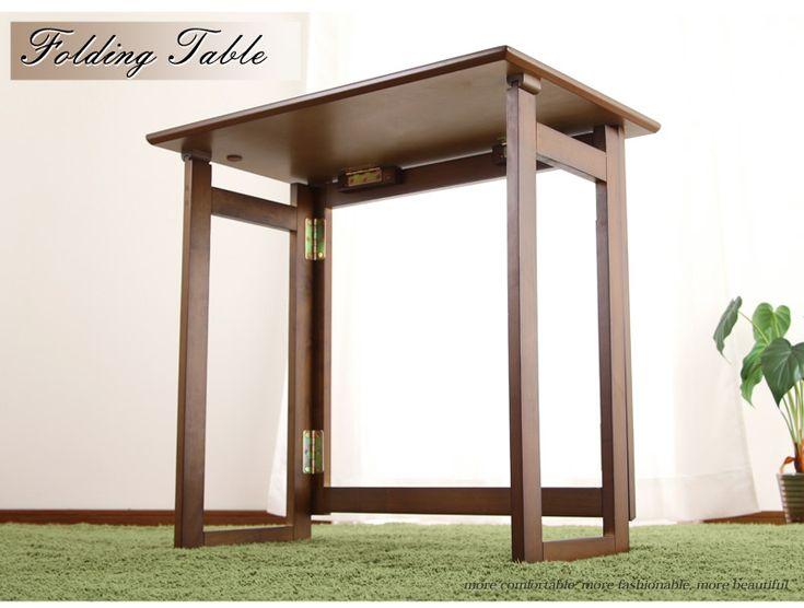 【送料無料】折りたたみ式デスク 折りたたみテーブル ハイタイプ 完成品 木製デスク 省スペース 折り畳み式テーブル 机…