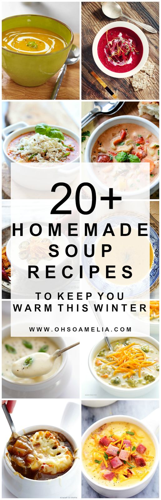 20+ Homemade Soup Recipes To Keep You Warm This Winter | From winter warmers to chicken noodle soup there's something for everyone!