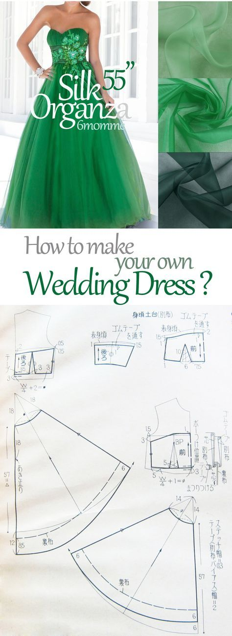 how to sew your own wedding dress? DIY wedding dress pattern. Free wedding dress pattern.