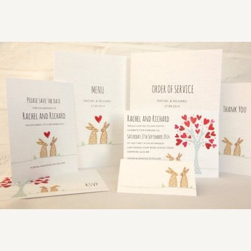 Bunny Wedding Invitations | Luxury Wedding Invitations