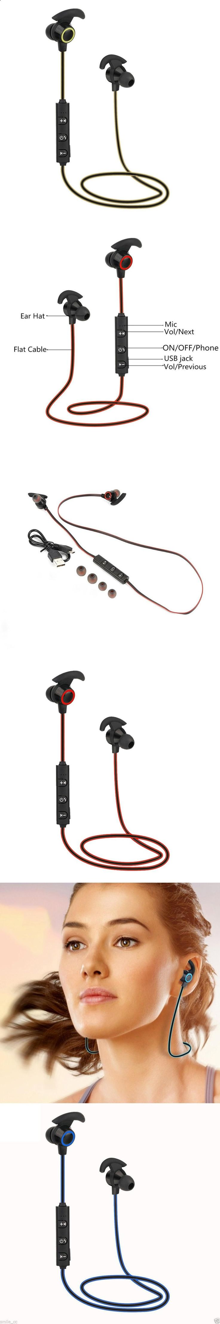 Sports Headphones - 2017 Stereo Ear Hook Bluetooth Earphone Wireless Sport Headphone Headsets With Micphone Handsfree for iPhone Samsung HTC Phone - If you usually go out to run, walk or any other sport in which you usually carry music to accompany or motivate you, we have selected 13 models of sports headphones that we consider among the best in the market for different aspects, from comfort to use to design, sound quality or value for money, so that you find variety and can adjust th...