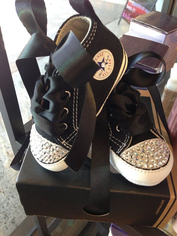 Hey, I found this really awesome Etsy listing at http://www.etsy.com/listing/161991339/baby-bling-converse