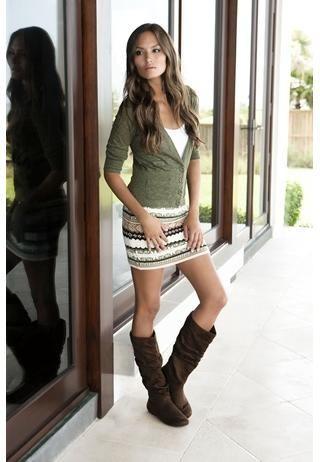 "Fair Isle sweater mini skirt. Fun outfit... and so very ""me""."