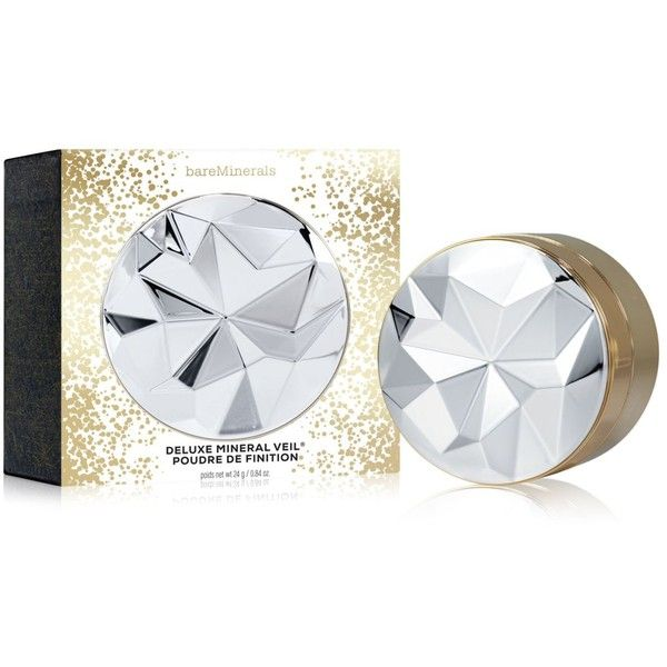 bareMinerals Deluxe Collector's Edition Mineral Veil Finishing Powder (48 CAD) ❤ liked on Polyvore featuring beauty products, makeup, face makeup, face powder, mineral face powder and bare escentuals