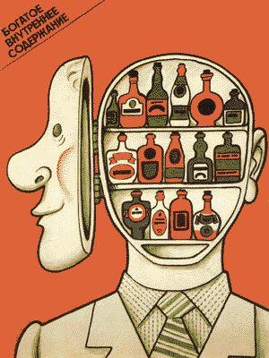 Vintage Anti-alcohol Posters from Soviet Propaganda Era - wave avenue