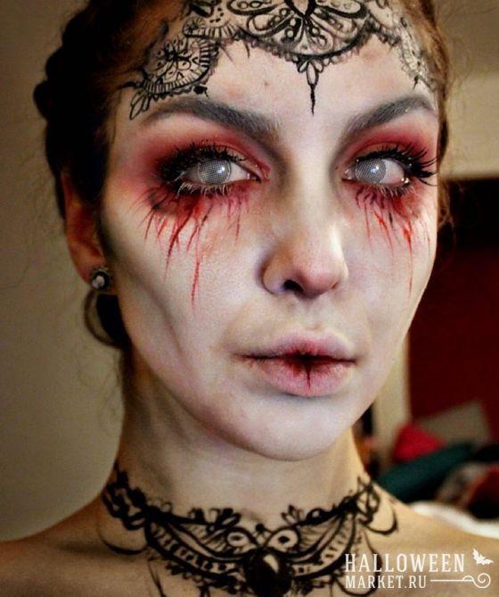 #vampire #halloweenmarket #halloween  #вампир #грим #макияж #образ Грим (макияж) вампира на хэллоуин