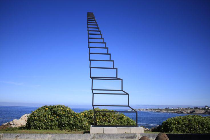 Staircase to heaven. Sculpture for Hermanus Fine Arts festival