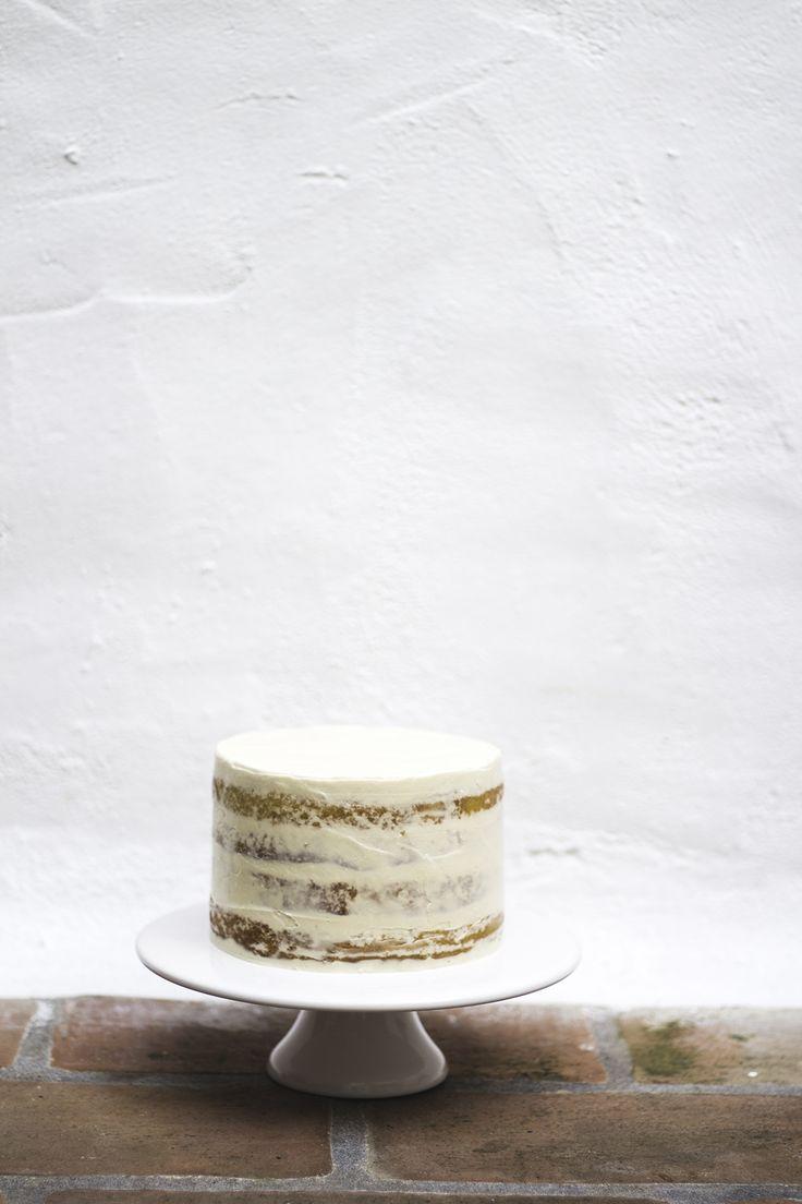 semi-naked lemon cake with raspberry jam and coconut buttercream | white chocolate cake with strawberry buttercream