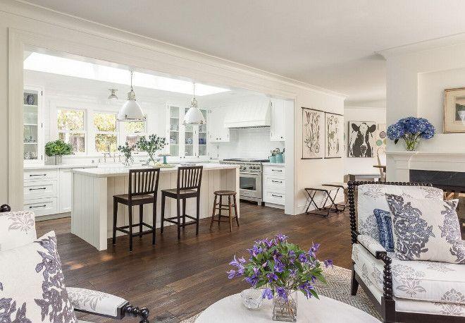 White Kitchen Open Living Room