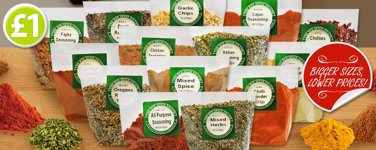 Spice up your meal times with a little help from Poundshop! This fantastic range of herbs & spices are perfect for a variety of different cuisines and come in bigger sizes and lower prices than most supermarkets! With over 14 to choose from you will be spoilt for choice... www.poundshop.com/food-drink/grocery/world-foods