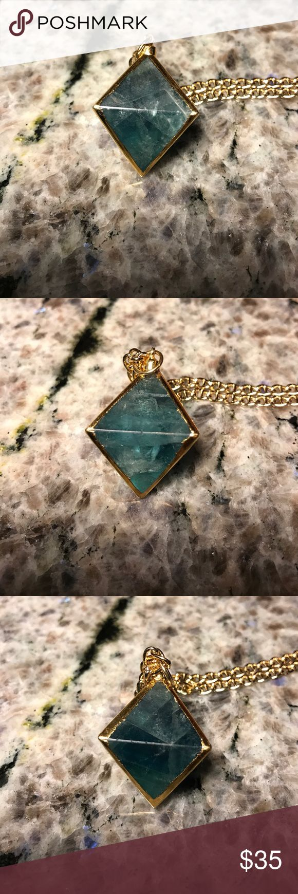 """Christina V. 24k Gold Plated Pendant Necklace All brand new with dust pouch Chain is almost 14""""  pendant about 1""""  they are solid so they are a little heavy  chain is 24k gold plated  The last two pictures are just to show the length and what it looks like in. The first 4 are the actual Pendant being sold Chritina V.  Jewelry Necklaces"""
