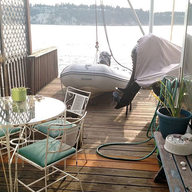 When you live on the water, making roo. For your guests to park is a little different.