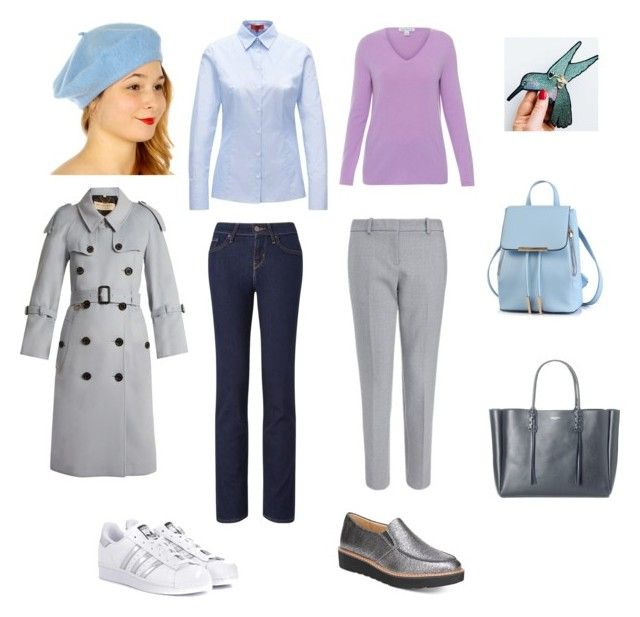 """Элегантность"" by sevostianova-e-a on Polyvore featuring Belford, Burberry, Naturalizer, Lanvin, Levi's and adidas Originals"