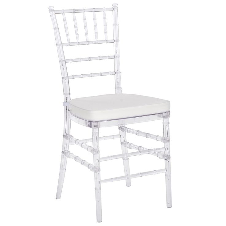 Clear Chiavari Chairs with White Cushion- Available to rent from R5 Event Design