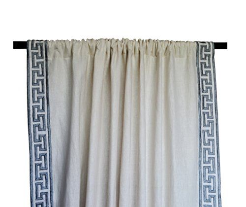 Amore Beaute Handcrafted Ivory Linen Curtain Panel in Gre... https://www.amazon.com/dp/B016ZSBFXQ/ref=cm_sw_r_pi_dp_WY6Axb7YHCX95