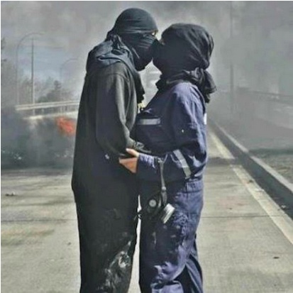 Brutal la foto de Miguel Morenatti en las protestas mineras