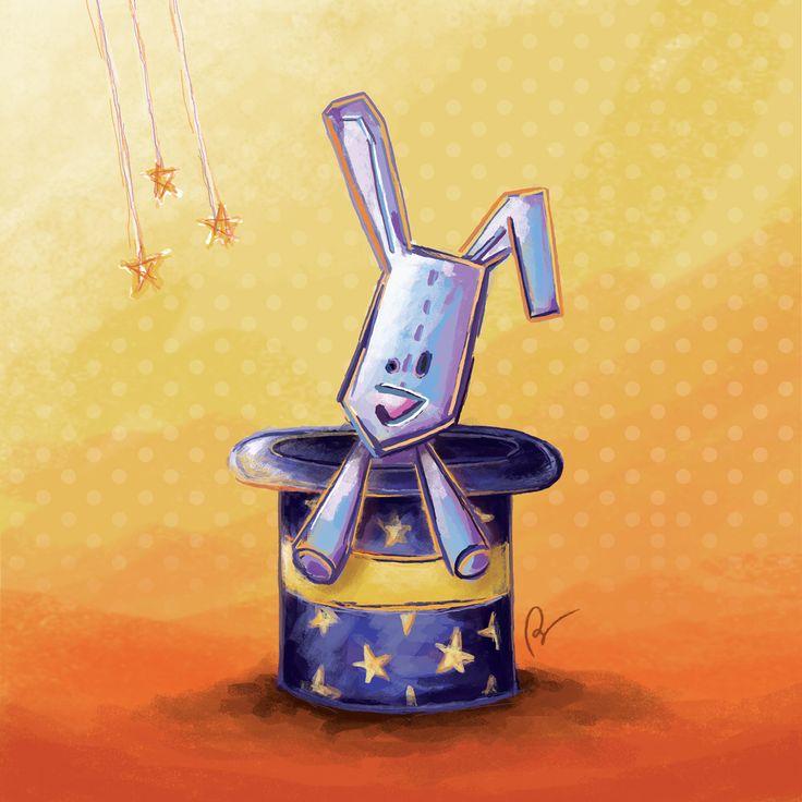 © Stillistic - Nathalie BRIULET - Tous droits réservés. Consultez mon projet @Behance: « Little magician rabbit » https://www.behance.net/gallery/15643789/Little-magician-rabbit