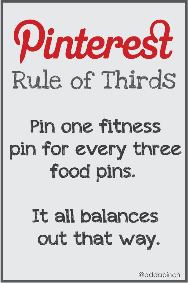 The Pinterest Rule of Thirds: You Cans Do It Quotes Funny, Fit Tips, Pinterest Humor, Pinterest Funny, Robyn Stones, Pinterest Rules, Rules Of Third, Funny Stuff, The Rules