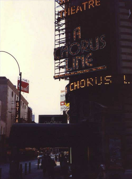 A Chorus Line in its original production at the Shubert Theatre.