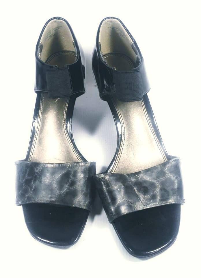 eb9637d76a885c BEST Villager By Liz Claiborne Women s Sandals Heels Open Toe Sandals Size  7.5M  LizClaiborne  FlatSandals  SpecialOccasion