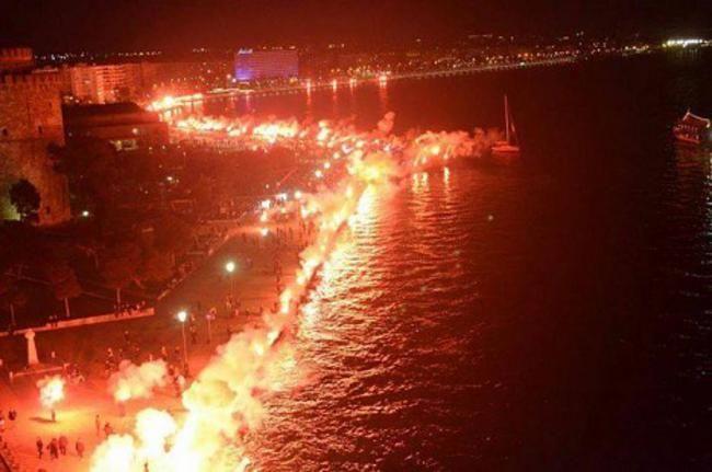 «Κιτρίνισε» η Θεσσαλονίκη στα 100 χρόνια του Αρη
