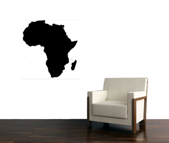 Africa Continent large wall Vinyl Design Decal - Wall art Decor on Etsy, $24.99