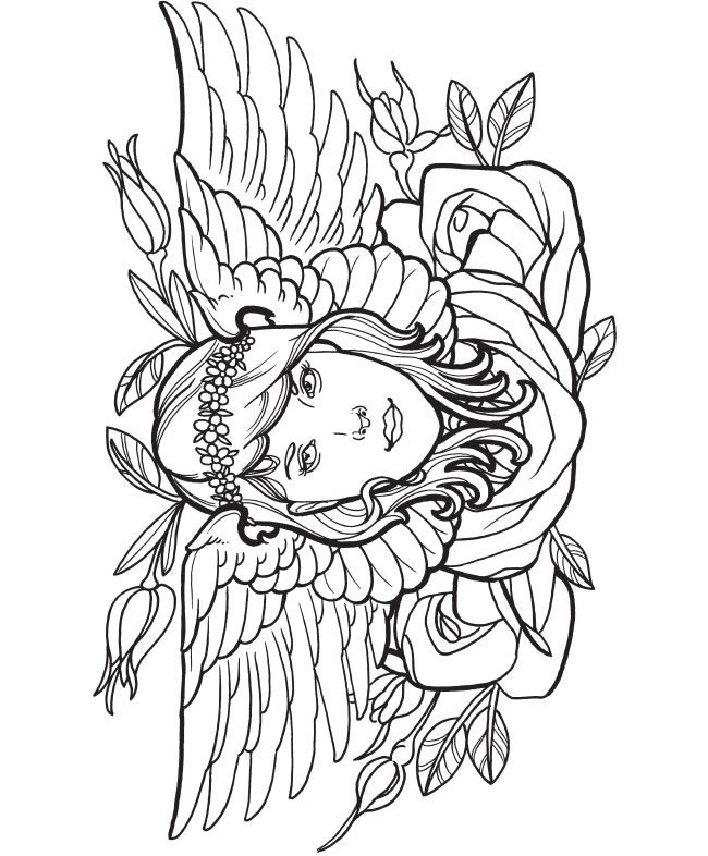 Creative haven modern tattoo designs colouring book dover publications
