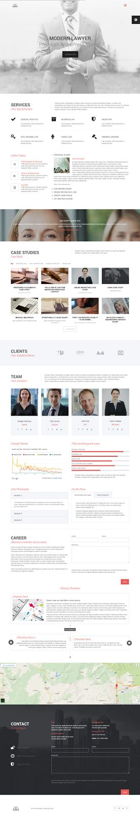 Premium #Lawyers & Business WordPress Theme #website #design