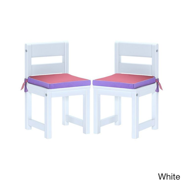 Maxtrix Kids Mates 36 Two Small Chairs with / Pink Seat Pads