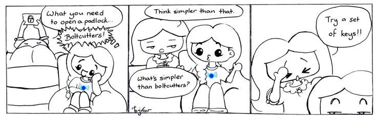 Padlock Ponderings | Giggles Comic