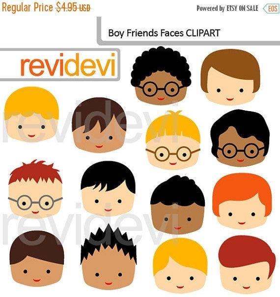 50% OFF SALE Boy Friends Faces 07557 commercial use by revidevi