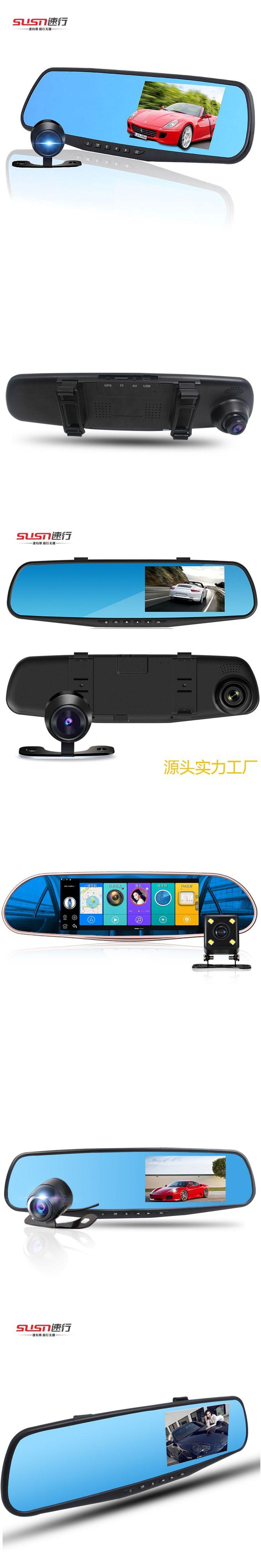 5 Inch TouchTFT LCD Car DVR Camera Mirror Dual Lens Full HD 1080p Loop Recording Anti-shake Video Recorder Dash Cam G-sensor