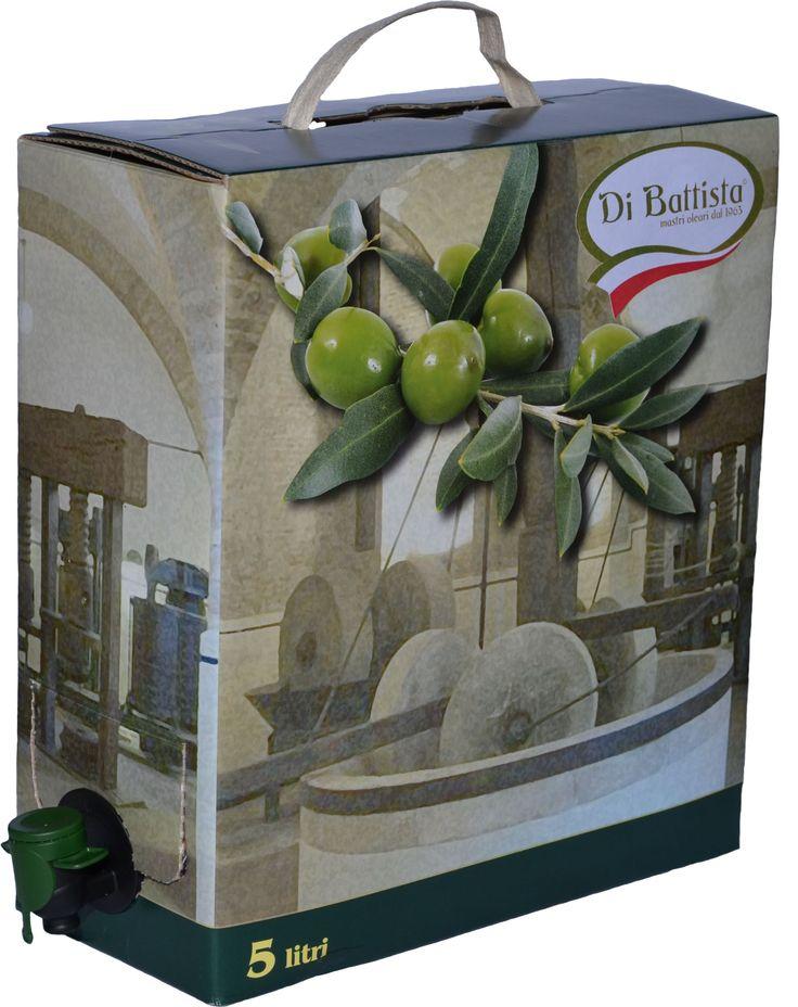 Bag in Box da 5 Lt. Disponibile su http://www.dibattistaoli.comhttp://www.dibattistaoli.com/shop/olio/bag-in-box/