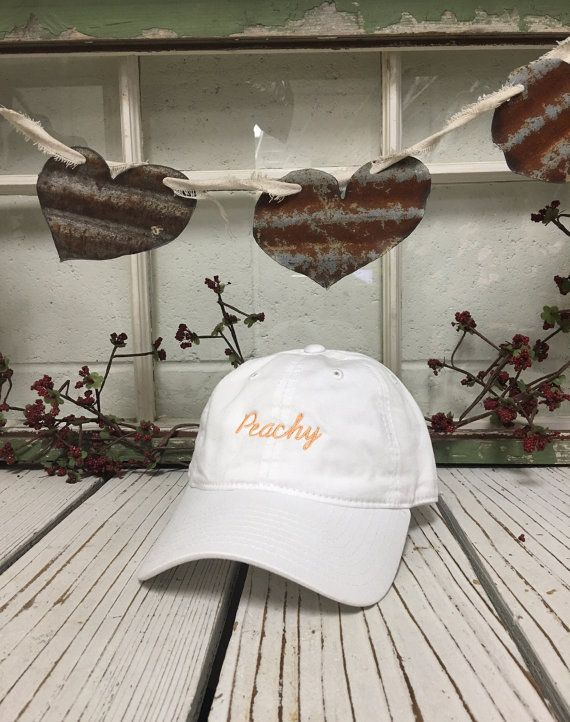 PEACHY Baseball Hat Low Profile Embroidered by TheHatConnection