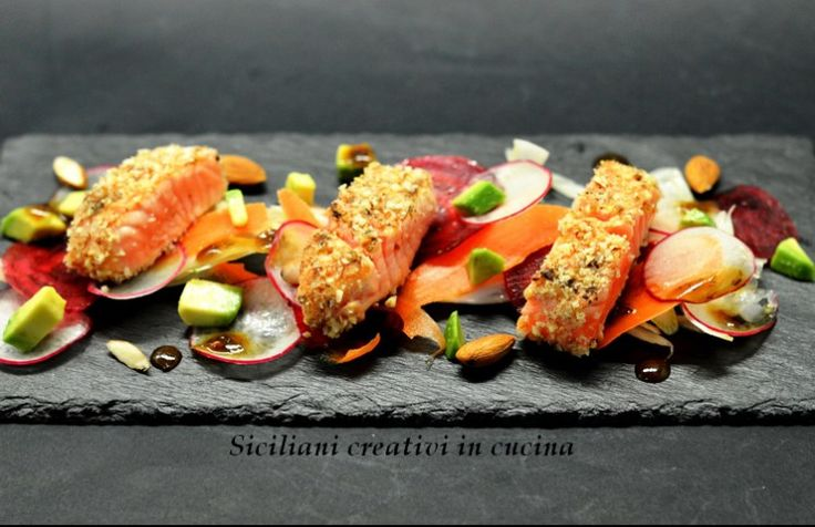 Tataki di salmone marinato al Chiaretto | SICILIANI CREATIVI IN CUCINA | di Ada Parisi