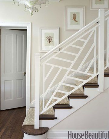 staircase fret work - feels clean and retro, great alternative to the usual spindle.