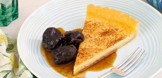 Food | Recipe | Custard Tart With Prunes - Recipes - New Zealand Woman's Weekly