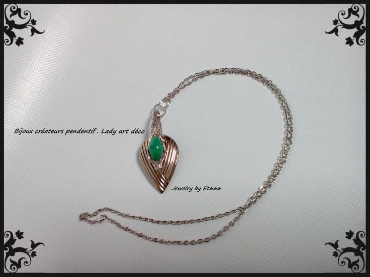 Bijoux créateurs pendentif . Lady art déco : Pendentif par et666